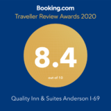 Booking.com Traveler Review Awards 2020 for Quality Inn & Suites Anderson Indiana I-69